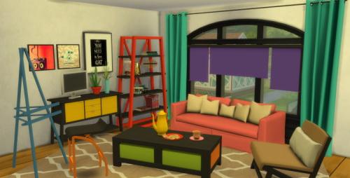 Sims 4 S3 to S4 Livingroom Meridea at ChiLLis Sims
