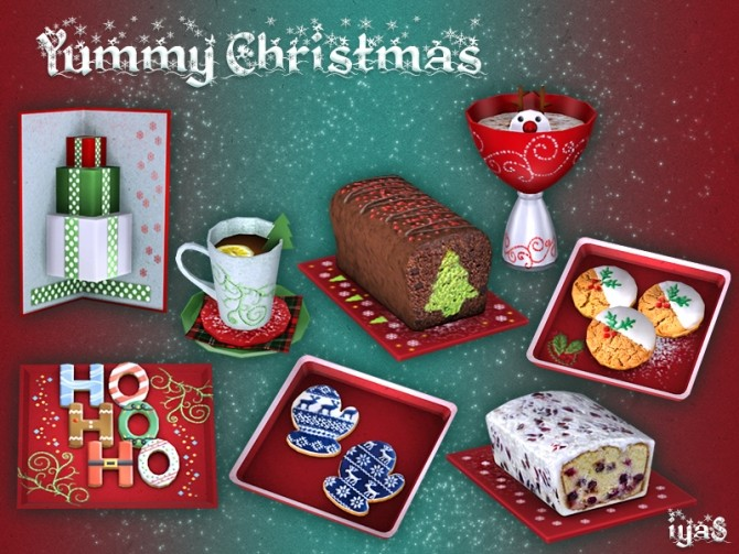 Sims 4 Yummy Christmas clutter at Soloriya