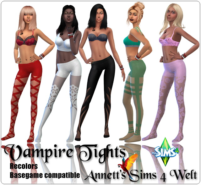 Vampire Tights Recolors at Annett's Sims 4 Welt image 1983 Sims 4 Updates