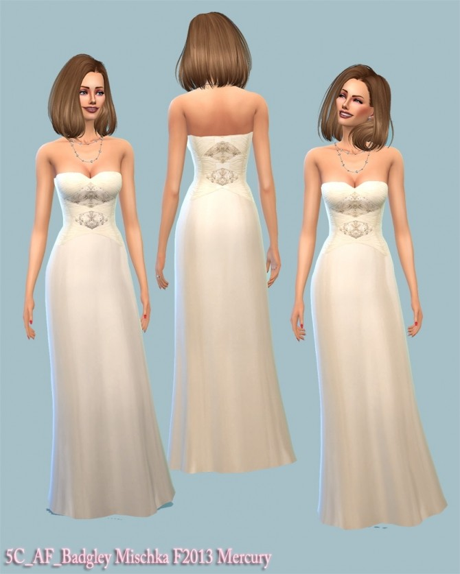 Sims 4 F2013 Mercury wedding gown at 5Cats