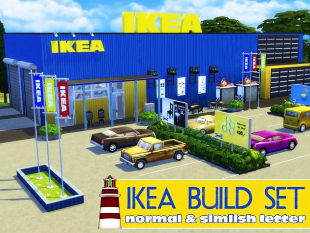 Sims 4 IKEA Lets Build series: lot and CC at Akisima