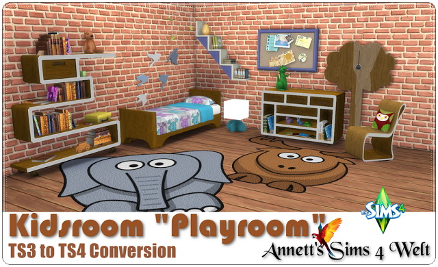 TS3 to TS4 Conversion Kidsroom Playroom at Annett's Sims 4 Welt image 20112 Sims 4 Updates