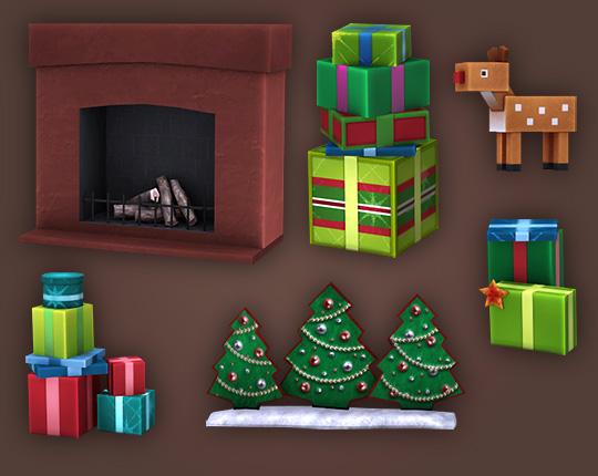 Sims 4 Christmas Time set at Soloriya