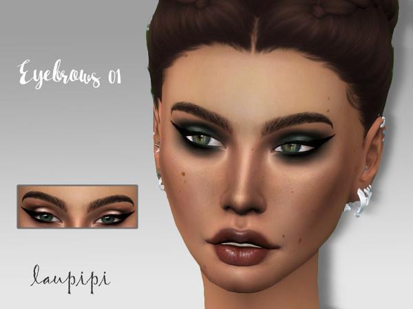 Sims 4 Eyebrows 01 by laupipi at TSR