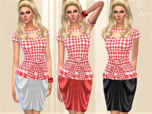 LadieZ 03 peplum dress by Zuckerschnute20 at TSR image 2030 Sims 4 Updates