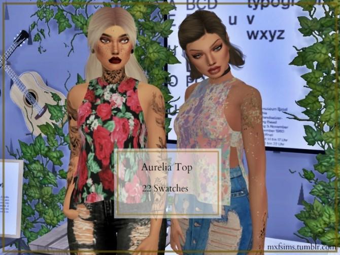Sims 4 Aurelia Top at MXFSims