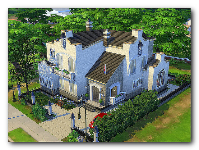 Shades of biedermeier house at Architectural tricks from Dalila image 2067 Sims 4 Updates