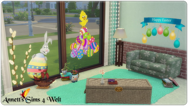 Sims 4 Easter Wall Deco Part 2 at Annett's Sims 4 Welt