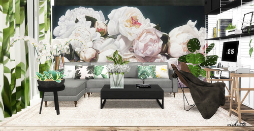 Botanic Curtain and Pillows at Viikiita Stuff image 2077 Sims 4 Updates