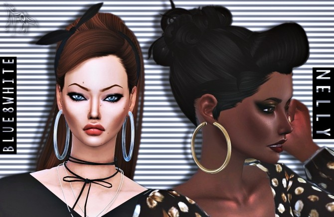 NELLY BIG HOOPS at Blue8white image 2082 670x436 Sims 4 Updates