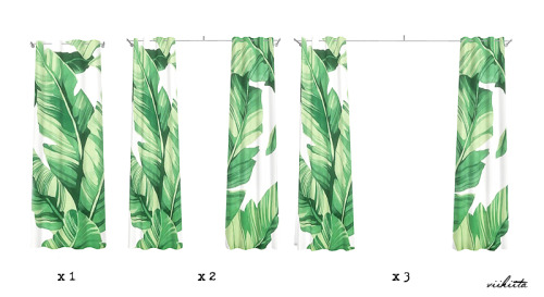 Botanic Curtain and Pillows at Viikiita Stuff image 2086 Sims 4 Updates