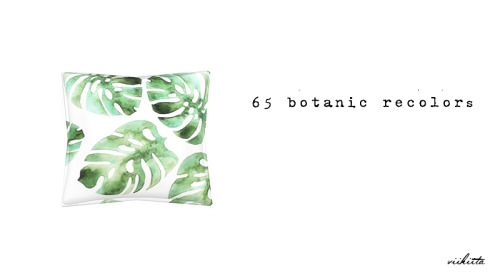 Botanic Curtain and Pillows at Viikiita Stuff image 2096 Sims 4 Updates