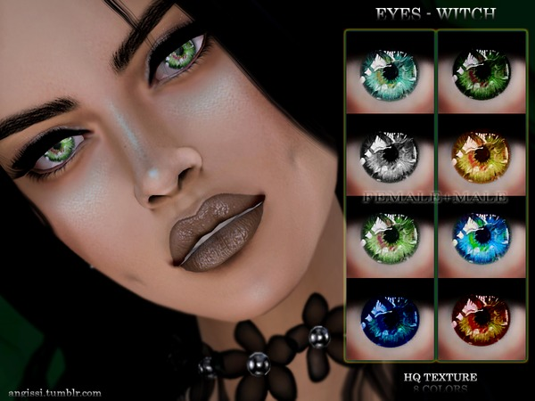 Sims 4 WITCH EYES by ANGISSI at TSR