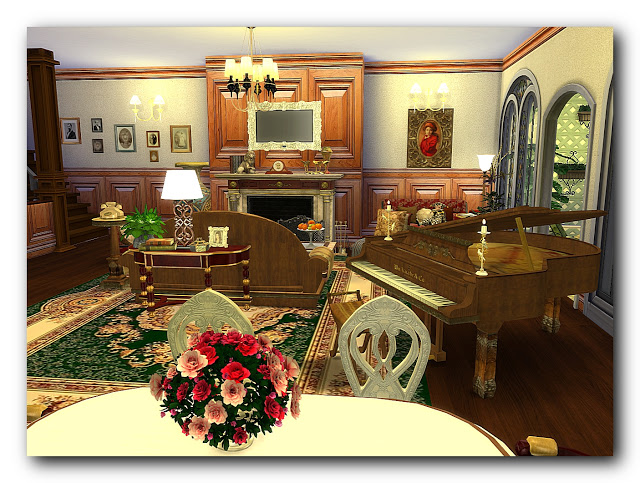 Shades of biedermeier house at Architectural tricks from Dalila image 21012 Sims 4 Updates