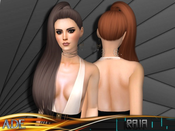 Sims 4 Raja hair by Ade Darma at TSR