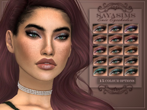 Enix Eyeshadow by SayaSims at TSR image 2115 Sims 4 Updates