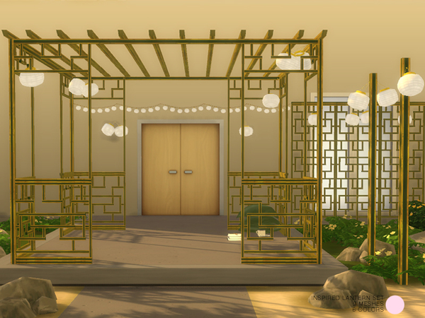 Inspired Lantern Set by DOT at TSR image 212 Sims 4 Updates