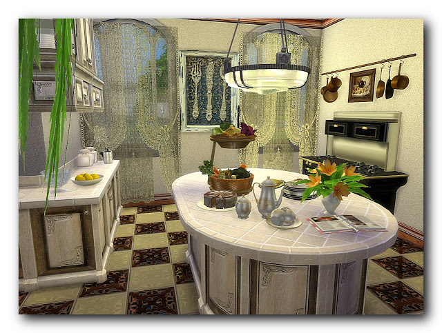 Shades of biedermeier house at Architectural tricks from Dalila image 21210 Sims 4 Updates