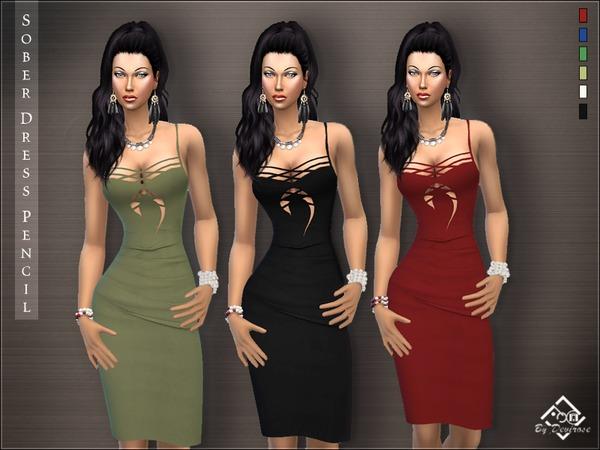 Sober Dress Pencil by Devirose at TSR image 2124 Sims 4 Updates