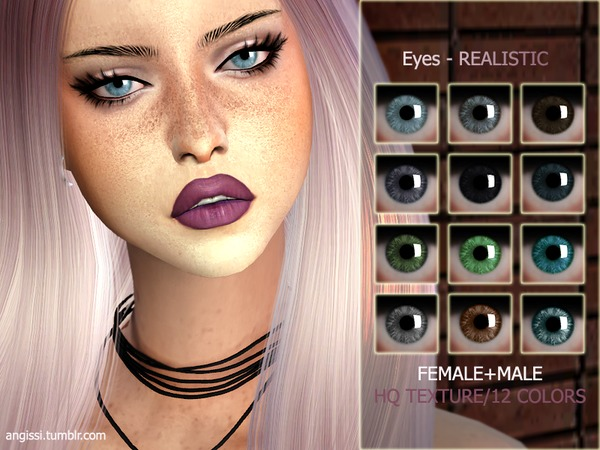 Realistic Eyes By Angissi At Tsr 187 Sims 4 Updates