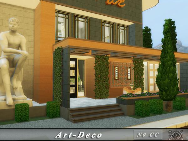 Sims 4 Art Deco house No CC by Danuta720 at TSR
