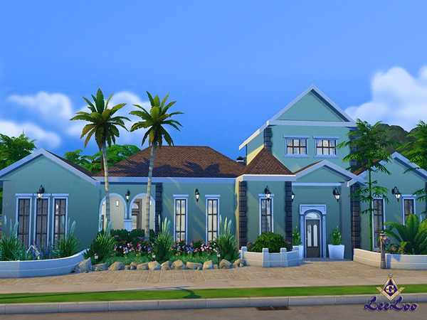 Magnolia house by LeeLooRussia at TSR image 2214 Sims 4 Updates