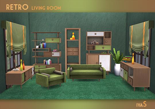 Retro Living Room at Soloriya image 2218 Sims 4 Updates