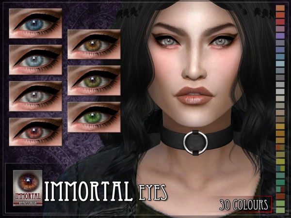 Immortal Eyes Facepaint & Default by RemusSirion at TSR image 2219 Sims 4 Updates