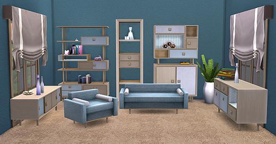 Retro Living Room at Soloriya image 2222 Sims 4 Updates