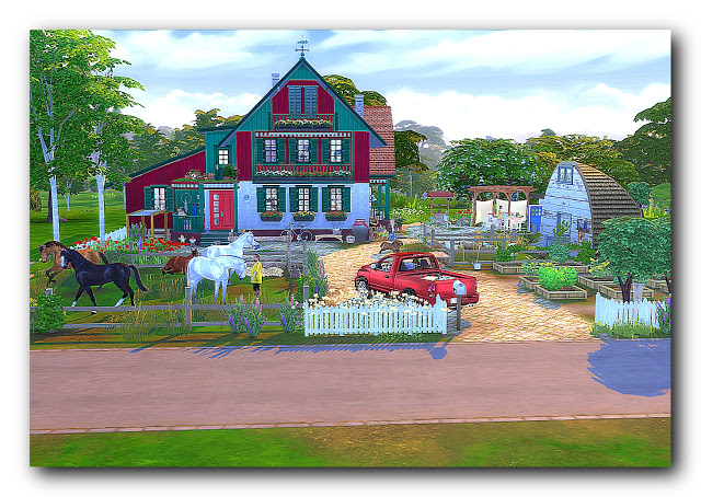 Sims 4 Green Valley European ranch at Architectural tricks from Dalila