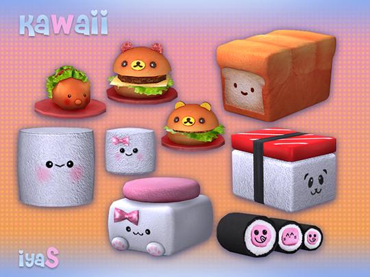 Kawaii clutter + poufs at Soloriya image 2281 Sims 4 Updates