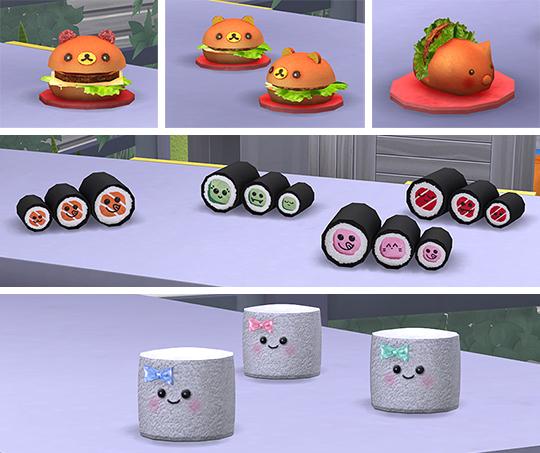 Sims 4 Kawaii clutter + poufs at Soloriya