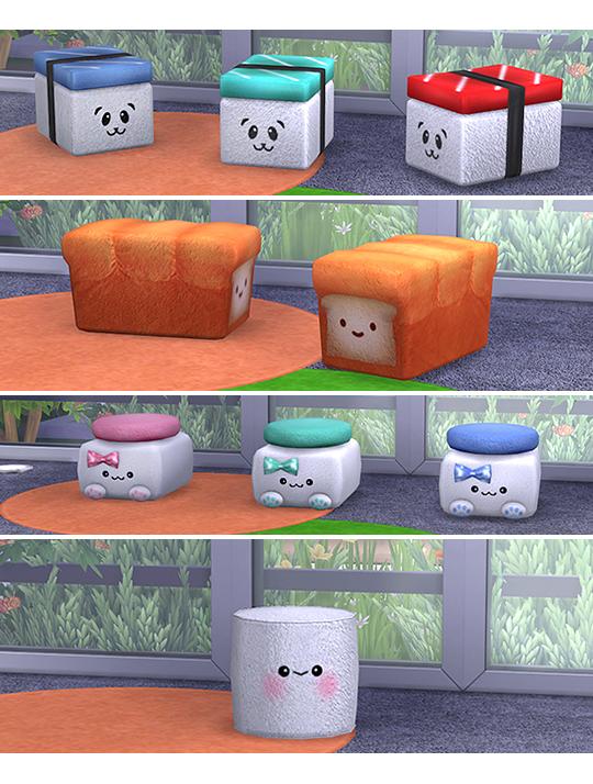 Kawaii clutter + poufs at Soloriya image 2301 Sims 4 Updates