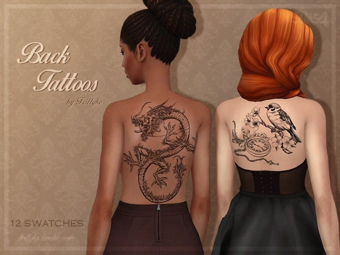 Back Tattoos at Trillyke image 2322 670x503 Sims 4 Updates