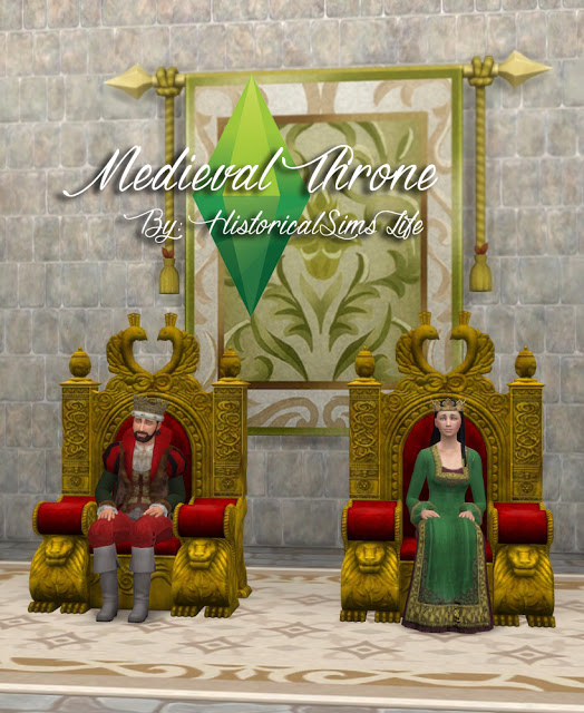 TSM to TS4 Medieval Throne at Historical Sims Life image 2383 Sims 4 Updates