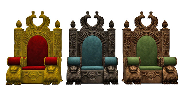 TSM to TS4 Medieval Throne at Historical Sims Life image 2393 Sims 4 Updates