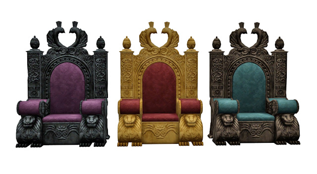 TSM to TS4 Medieval Throne at Historical Sims Life image 2403 Sims 4 Updates