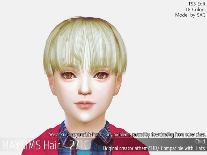 Sims 4 Hair 271C (Athem2310) at May Sims