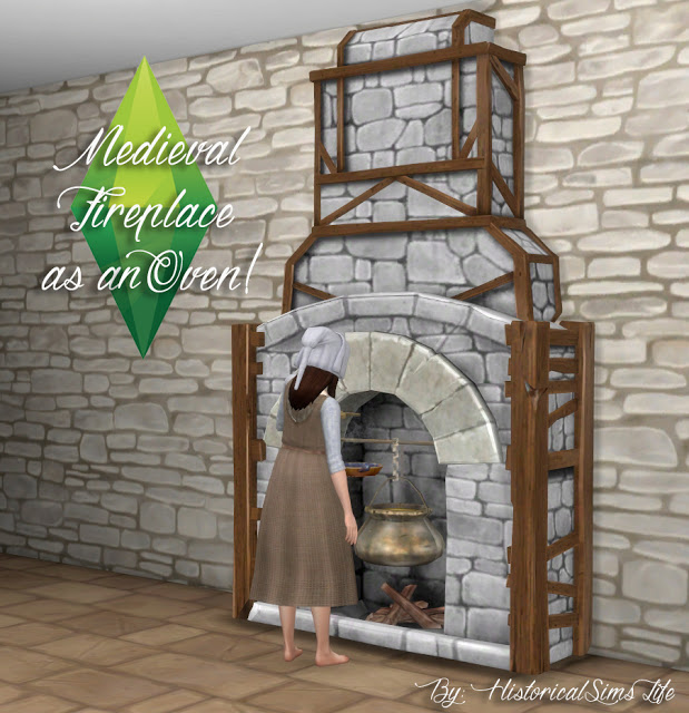 TSM to TS4 Fireplace as an Oven at Historical Sims Life image 24111 Sims 4 Updates