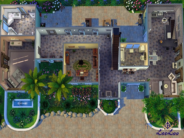 Magnolia house by LeeLooRussia at TSR image 2414 Sims 4 Updates