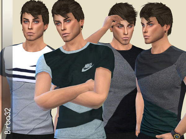 Tommy T Shirts by Birba32 at TSR image 2416 Sims 4 Updates
