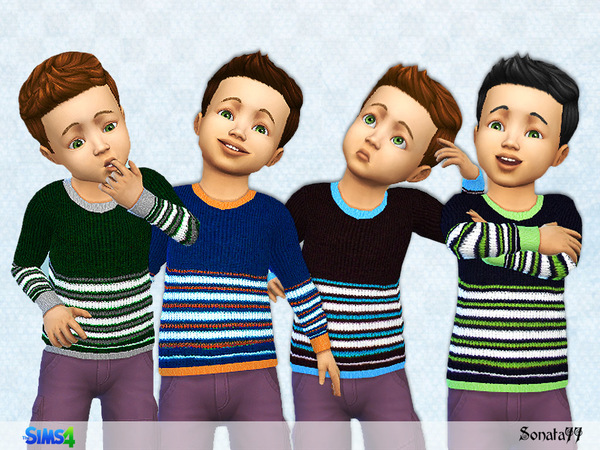 Sweater for toddler boys by Sonata77 at TSR image 242 Sims 4 Updates