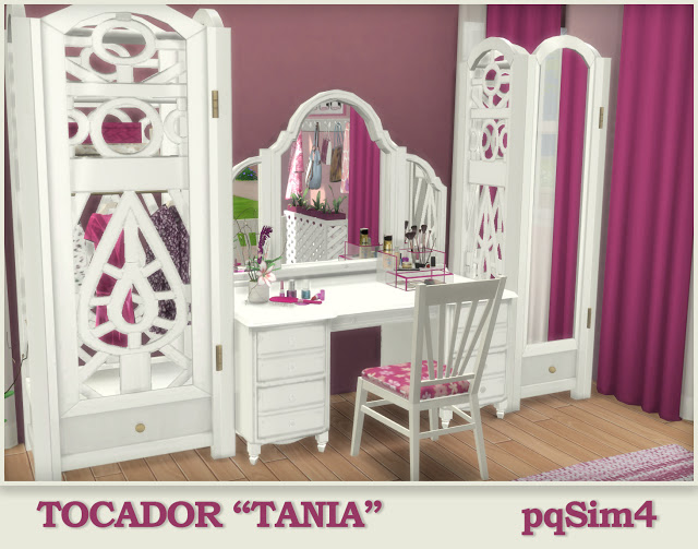 Tania vanity by Mary Jiménez at pqSims4 image 2421 Sims 4 Updates