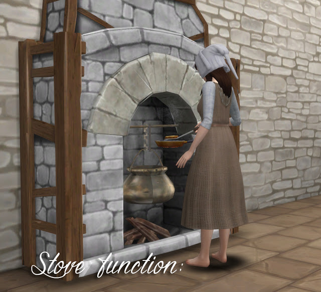 TSM to TS4 Fireplace as an Oven at Historical Sims Life image 2425 Sims 4 Updates