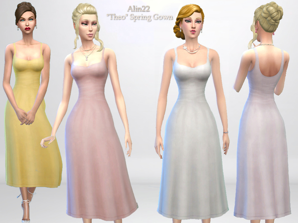 Sims 4 Theo Spring Gown by alin2 at TSR
