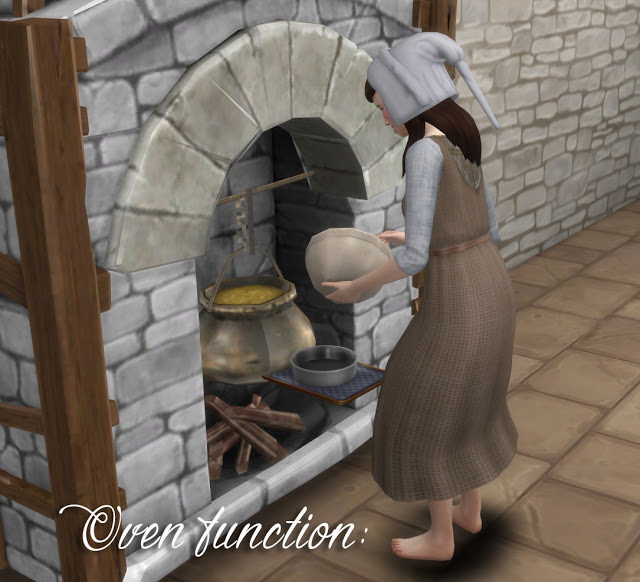TSM to TS4 Fireplace as an Oven at Historical Sims Life image 2434 Sims 4 Updates