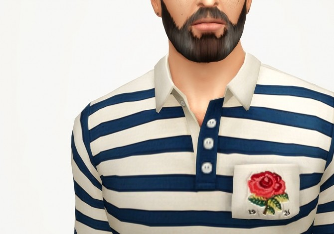 Striped appliqued cotton jersey polo shirt at Rusty Nail image 2442 670x471 Sims 4 Updates