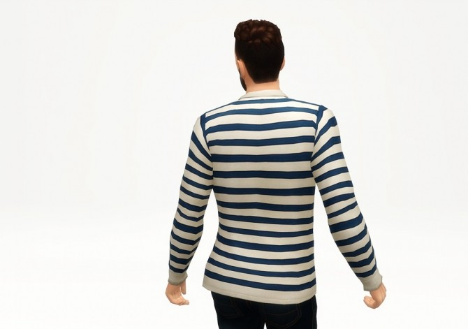 Striped appliqued cotton jersey polo shirt at Rusty Nail image 2472 670x471 Sims 4 Updates