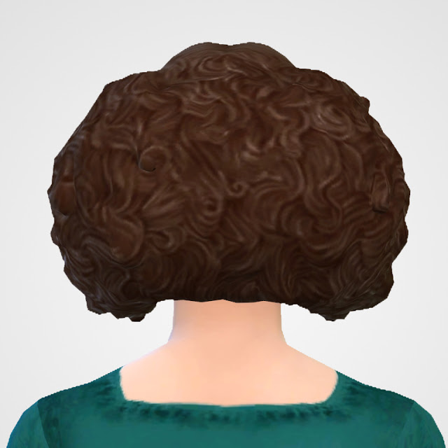 Sims 4 TSM to TS4 Queen Hair (2 Versions) at Historical Sims Life