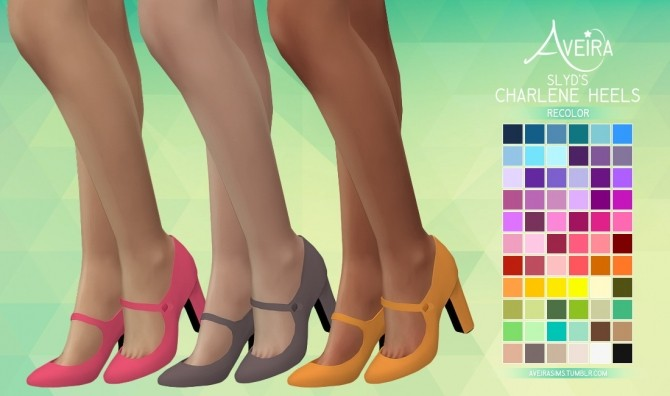 SLYD's Charlene Heels Recolors at Aveira Sims 4 image 2491 670x396 Sims 4 Updates